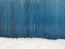 Wooden blue fence. Blue wood texture background coming from natural tree. Wooden panel with beautiful patterns. Space for work stock photo