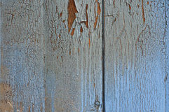 Wooden blue surface with cracks and scuffs Stock Images