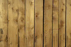 Wooden board. Roughly cut wooden planks background showing texture of grain and knots Royalty Free Stock Photos