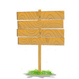 Wooden board. Stylized wooden board on a grass Royalty Free Stock Image
