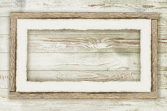 Wooden board background with snow Stock Photos
