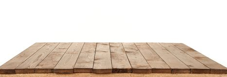 Wooden board for background or texture isolated on white Royalty Free Stock Photos