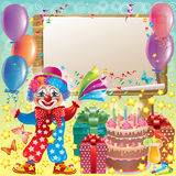 Wooden board birthday Royalty Free Stock Image