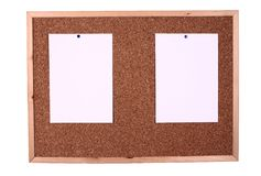 Wooden board with a blank paper note Stock Photo