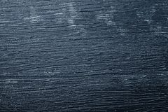 Wooden board with blue color. Paint and scratches Royalty Free Stock Image