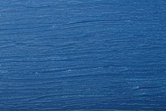 Wooden board with blue color. Paint and scratches Royalty Free Stock Photo