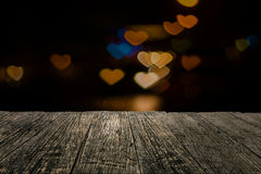 Wooden board empty table in front of blurred background Royalty Free Stock Image