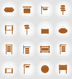 Wooden board  flat icons vector illustration Stock Photography