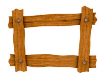 Wooden board frame Stock Image