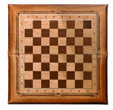 Wooden board for a game of chess Stock Images