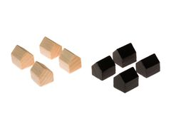 Wooden board gaming pieces Royalty Free Stock Photography
