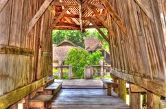 Wooden board house style in Thailand. Royalty Free Stock Photos