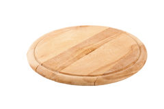 Wooden board isolated on white. Round cutting board isolated on white background Stock Photography