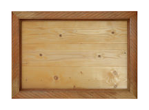 Wooden board isolated Stock Images