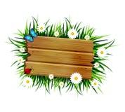Wooden board on a loan Stock Image