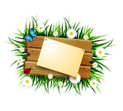 Wooden board on a loan Royalty Free Stock Photos