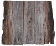 Wooden board old planks isolated. White background Royalty Free Stock Photos