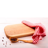 Wooden board over grunge background Stock Photos