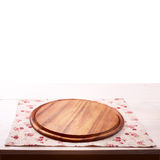 Wooden board over grunge background Royalty Free Stock Image