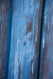 Wooden Board painted in blue color stock images