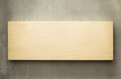Wooden board panel. On wall Stock Images