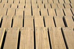 wooden board screws Stock Image