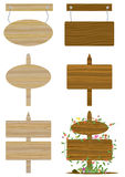 Wooden Board Sets_eps Royalty Free Stock Photography