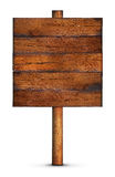 Wooden board sign. A background of a wooden sign with space for text Royalty Free Stock Photography
