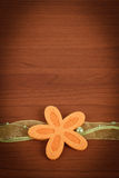 Wooden board for spring message with flowers Royalty Free Stock Photo
