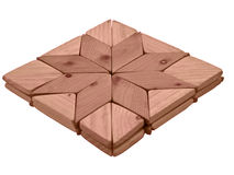 Wooden board square. Wooden square board with star form royalty free stock photo