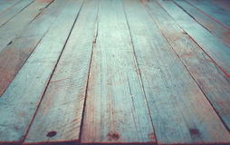 Wooden Board Surface in Perspective Vintage Style Stock Photos