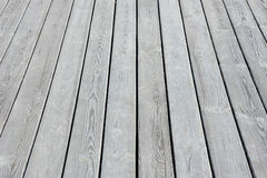 Wooden board on terrace Royalty Free Stock Images