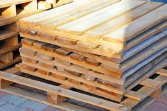 Wooden board for terrace Royalty Free Stock Photography