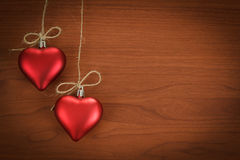 Wooden board for valentine message Royalty Free Stock Photography