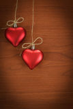 Wooden board for valentine message Royalty Free Stock Photos