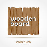 Wooden Board. Vector Element. Vector wooden board. Element . Sample text can be removed Stock Photo