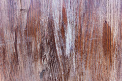 Wooden board with weathered varnish Royalty Free Stock Image