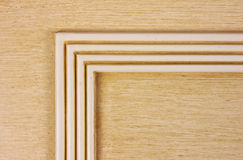 Wooden board with wooden angle Stock Images