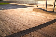 Wooden boarded walkway royalty free stock images