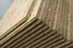 Wooden boards. Stack of brown wooden boards Stock Photos