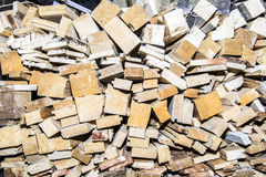 Wooden boards broken. Construction building Royalty Free Stock Photography