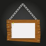Wooden boards with chain Royalty Free Stock Images