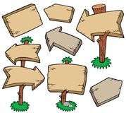 Wooden Boards Collection Royalty Free Stock Image