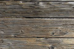 Wooden boards forming a rustic floor. Background, surface, texture, old, design, brown, vintage, frame, panel, plank, table, aged, natural, space, abstract royalty free stock image