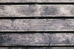 Wooden boards with large gaps Stock Image