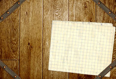 Wooden boards, old paper and leather belt Royalty Free Stock Photo