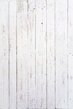 Wooden boards painted white. And used Royalty Free Stock Photo