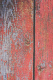 Wooden boards with peeling paint stock photography
