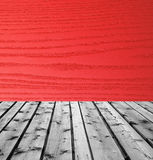 Wooden boards and red wood Royalty Free Stock Photography