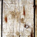 Wooden boards and rusty nails Stock Photography